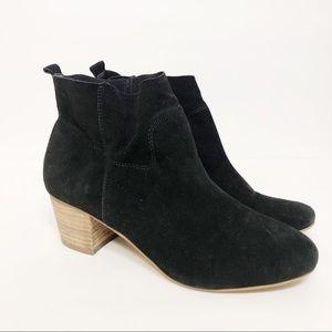 Steve Madden Harber Black Leather Ankle Boots